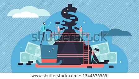 Capitalismo homem de negócios planeta terra desejo mestre mundo Foto stock © bonathos