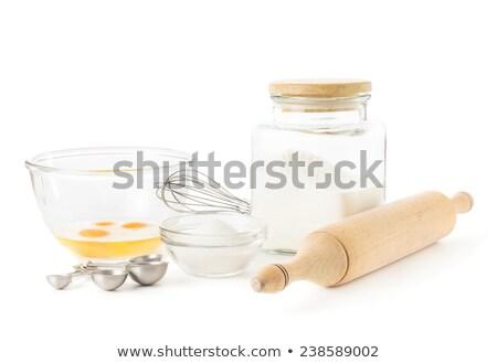 小麦粉 ガラス ボウル 麺棒 ソフト 緑 ストックフォト © Rob_Stark