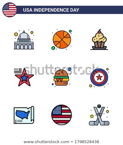 Foto stock: Ação · de · graças · dia · basquetebol · outono · esportes · colheita