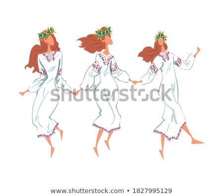 çekici · genç · dansçı · rus · kostüm - stok fotoğraf © stepstock