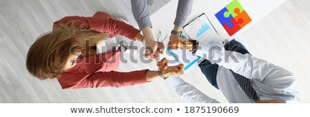 Image of attractive blonde woman showing thumbsup Stock photo © stepstock