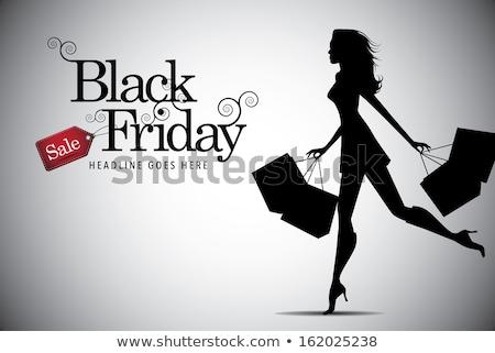 3D · pessoas · brancas · mulher · compras · isolado · branco - foto stock © stepstock