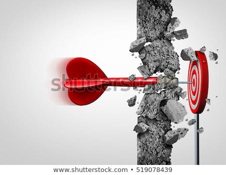 Conceptual illustration of achieving a goal Stock photo © alexmillos