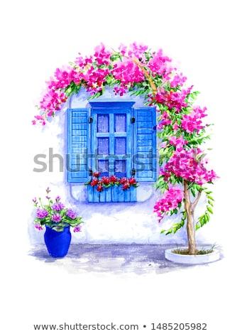 иллюстрация · красочный · популярный · лет · назначение · здании - Сток-фото © HypnoCreative