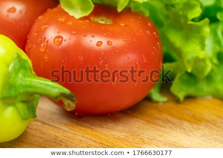 Wooden kitchen board with water drops Stock photo © BSANI