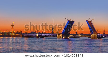 Fortness of St. Peter and Pavel and river Neva in St-Petersburg, Stock photo © Pilgrimego