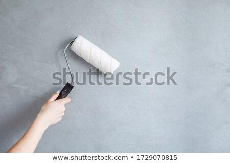 El fırçalamak boyama duvar çalışmak dizayn Stok fotoğraf © luckyraccoon