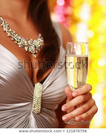moda · beleza · menina · isolado · dourado · bokeh - foto stock © Victoria_Andreas