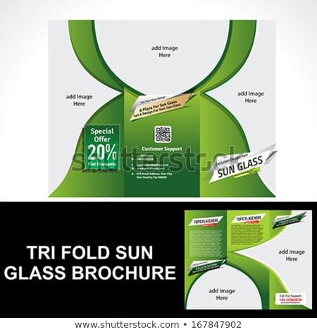 Tri Fold Sun Glass Brochure Stock photo © rioillustrator