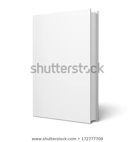 blank white standing book template stock photo © tarikvision