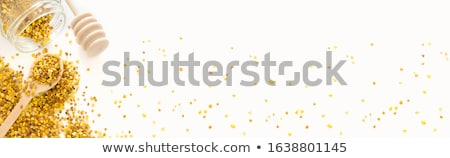 Bee пыльца стекла копия пространства деревенский ткань Сток-фото © marimorena
