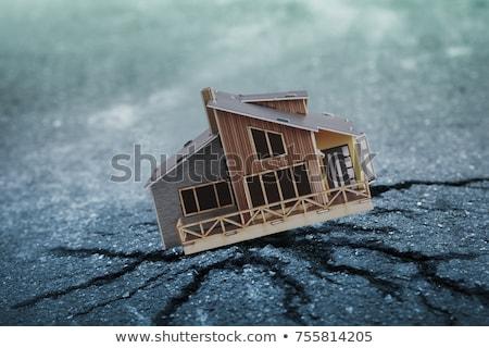 Stock fotó: Earthquake House