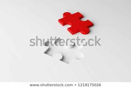 Incomplete puzzle with red missing part Stock photo © leungchopan