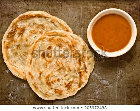 Roti Prata with Curry Gravy Stock photo © davidgn
