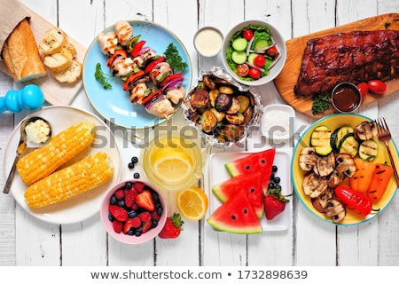 Kabobs and Corn Dinner Stock photo © AlphaBaby