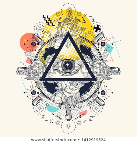眼 手 宗教 シンボル 教会 科学 ストックフォト © shawlinmohd