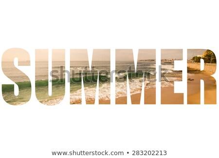 Atlantic Ocean Shore in Cascais Stock photo © rognar