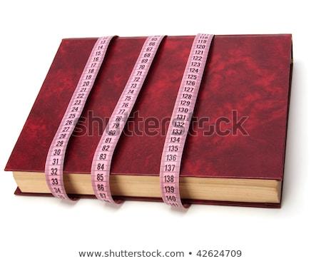 Сток-фото: рулетка · вокруг · книга · изолированный · белый · фон