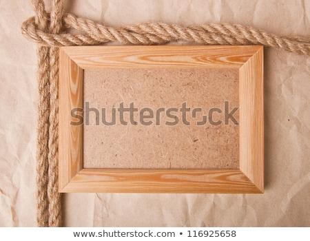 Stock fotó: Fotó · keret · hajó · kötél · fából · készült · textúra