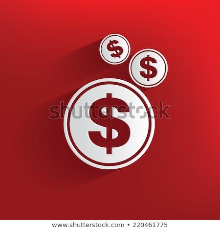 Stok fotoğraf: Beyaz · dolar · semboller · kırmızı · para · arka · plan