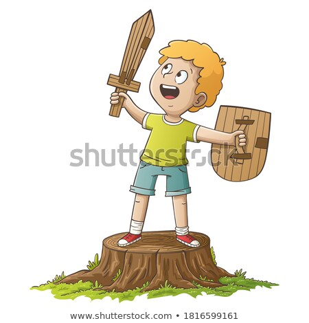 cute boy with a paperboard in hand Stock photo © alexandrenunes