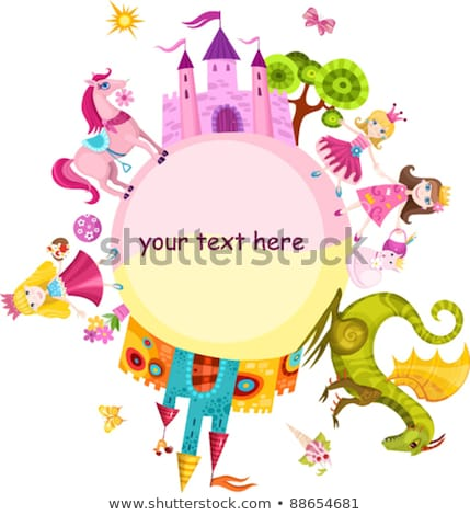magic · bajki · princess · zamek · drzwi · drzew - zdjęcia stock © carodi