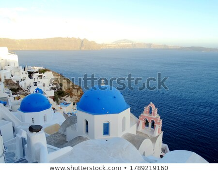 Ortodoxo sino torre santorini ilha Grécia Foto stock © alessandro0770