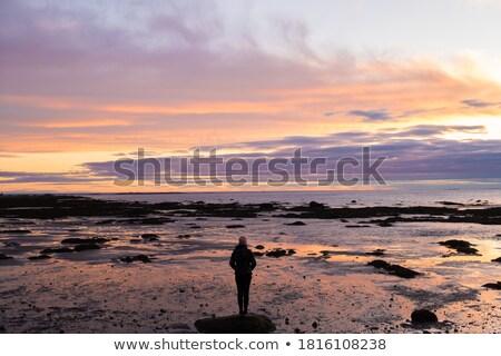 yansıma · gökyüzü · su · Quebec · Kanada · doğa - stok fotoğraf © bmonteny
