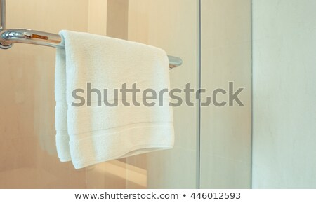 Towels hanging on a handle Stock photo © bmonteny