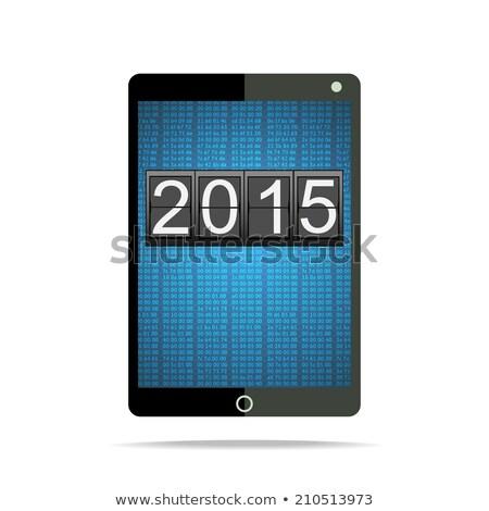 2015 générique écran blanche happy new year Photo stock © stevanovicigor