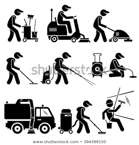 Vector Street Cleaning Icons Stock photo © dashadima