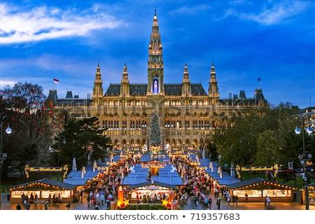 Karácsony piac Bécs Ausztria labda tárgy Stock fotó © phbcz