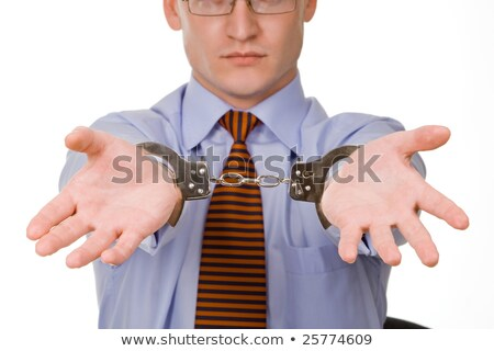 handen · man · crimineel · handboeien · recht · justitie - stockfoto © alexandrenunes