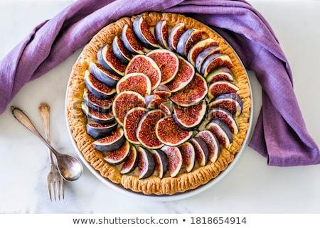 Tart with figs Stock photo © zia_shusha