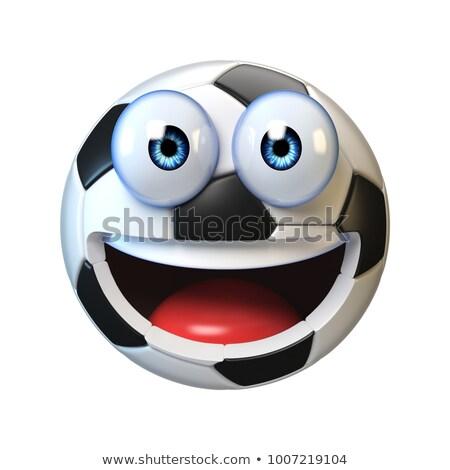 Emoticon minge de fotbal 3d face nu ca fotbal Imagine de stoc © mariephoto