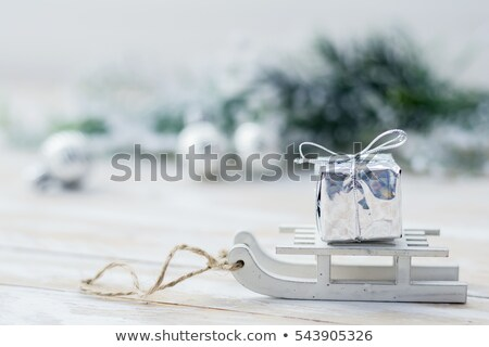 Wooden Sledge in the snow Stock photo © stevanovicigor