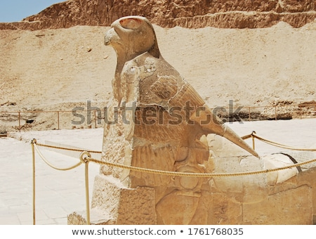 Horus statue at Temple of Hatshepsut in Egypt Stock photo © Mikko