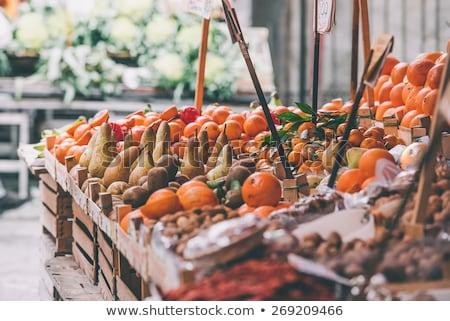 çok · taze · meyve · pazar · Barcelona · meyve - stok fotoğraf © elxeneize