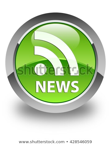 rss icon glossy green round button stock photo © faysalfarhan