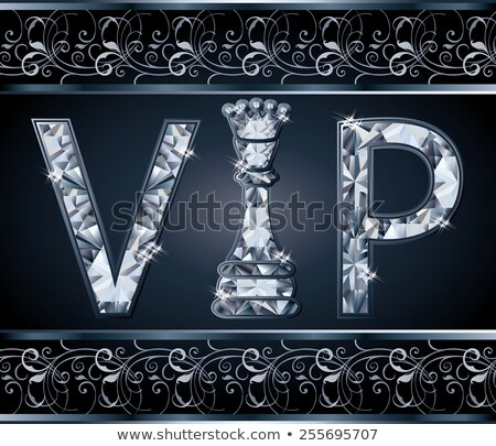 diamond vip chess banner vector illustration stock photo © carodi