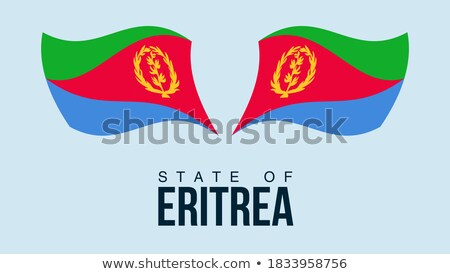 Map on flag button of State of Eritrea Stock photo © Istanbul2009