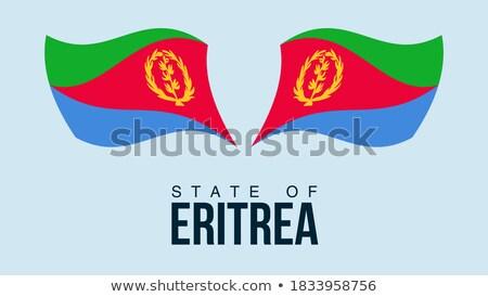 Eritreia · bandeira · botão · textura · arte · azul - foto stock © istanbul2009