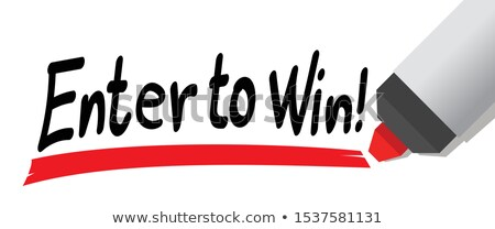 Enter to Win Red Marker Stock photo © ivelin