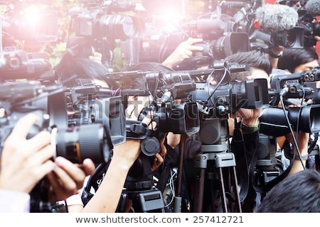 Foto stock: Television Broadcasted Press Conference
