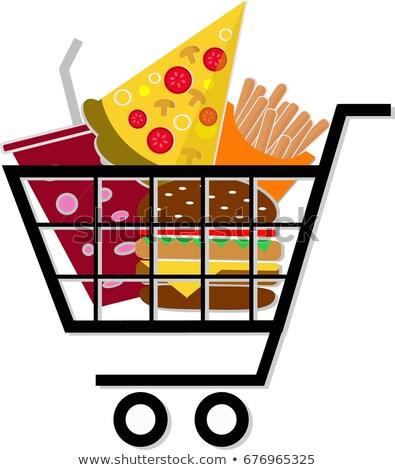 Foto stock: Unhealthy Food Shopping