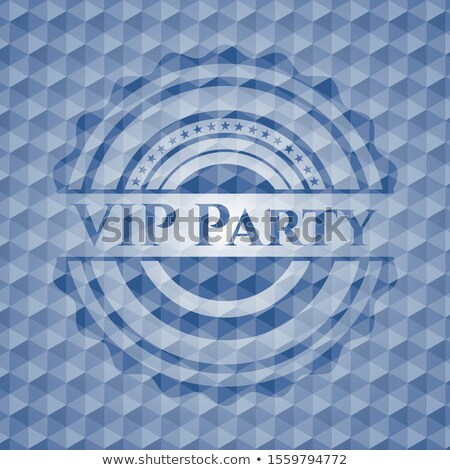 Blue VIP member badge with golden vintage pattern Stock photo © liliwhite