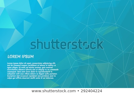 Stock photo: abstract blue and green low poly background, vector