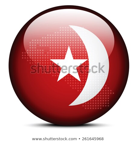 Map with Dot Pattern on flag button of United Arab Emirates, Umm Stock photo © Istanbul2009