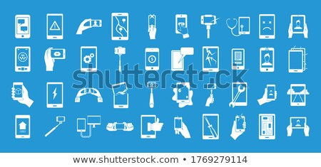 roto · CPU · simple · icono · blanco · ordenador - foto stock © tkacchuk