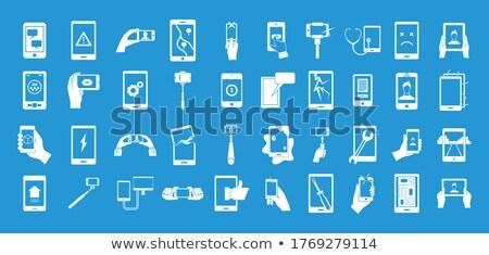 Roto CPU simple icono blanco ordenador Foto stock © tkacchuk